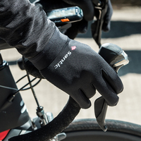 Santic Cycling Gloves Men Thermal Fleece Full Finger Mtb Road Bike Gloves Touch Screen Fingers Silica Gel Palm Bicycle Gloves