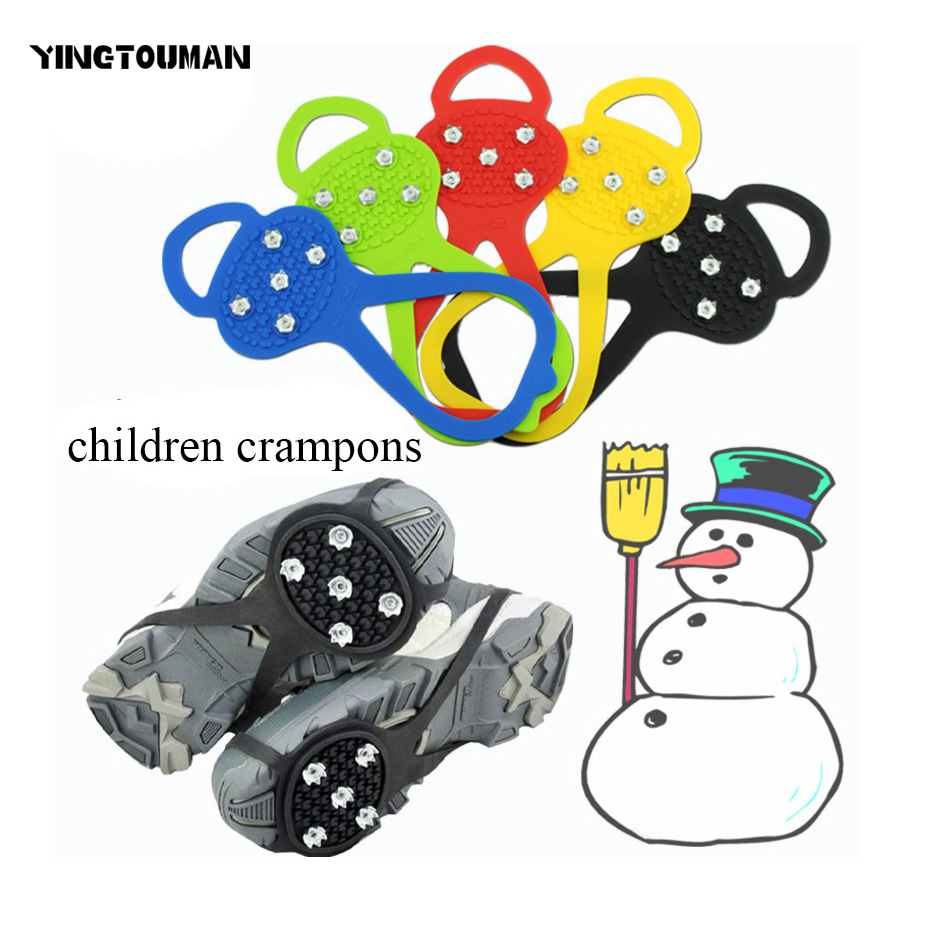 YINGTOUMAN SS Yard Children Ice Claw Anti-Slip Ice Gripper Outdoor Shoe Chain Cleats Shoe Grip Crampon Chain Spike Snow