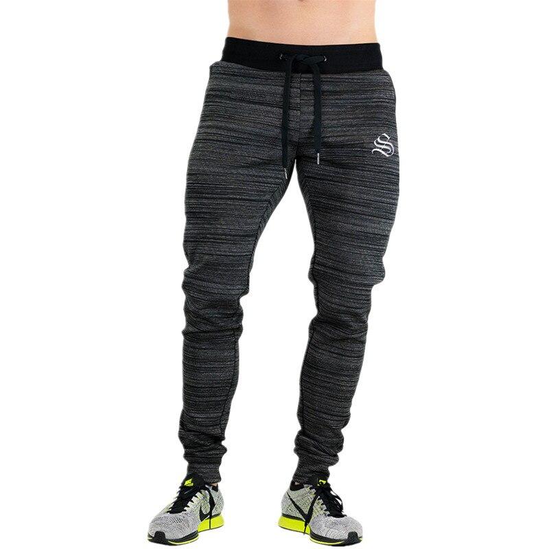 Новинка 2017 года Высокое качество Jogger Брюки Для мужчин Осенне-зимняя обувь Фитнес Бодибилдинг тренажерные залы брюки для бегунов брендовая одежда m-xxxl