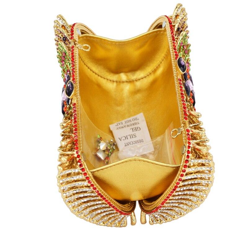 Nuevas señoras de Lujo bolsos de tarde del embrague de Oro crystal bolsos de Em