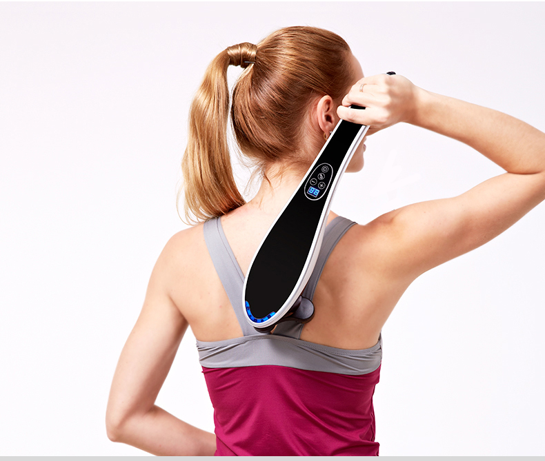 Dolphin digital massage stick electric cervical vertebra massage device multifunctional neck the leg full-body massage hammer стоимость