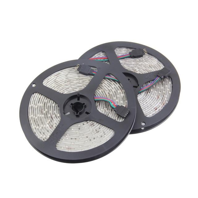 Wholesale newest 10M 2x5M 3528 Waterproof SMD RGB 600LEDs LED Light Strip Lamp 44Key IR remote