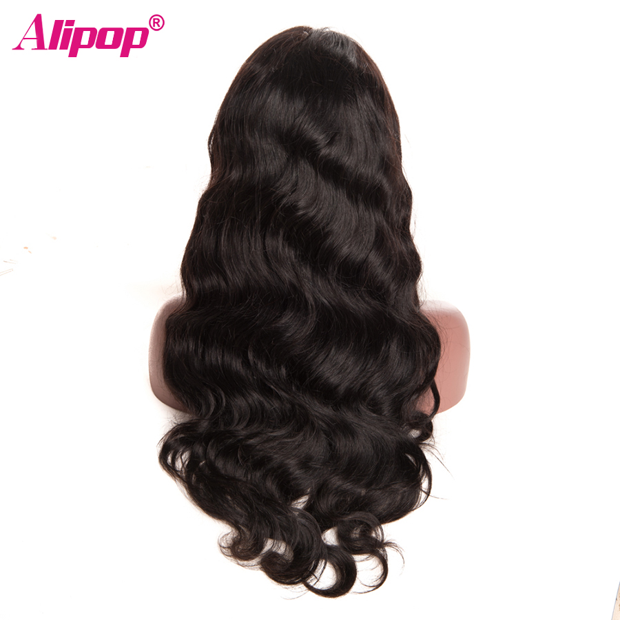 Glueless Full Lace Wigs Human Hair With Baby Hair Brazilian Body Wave Pre Plucked Remy Full