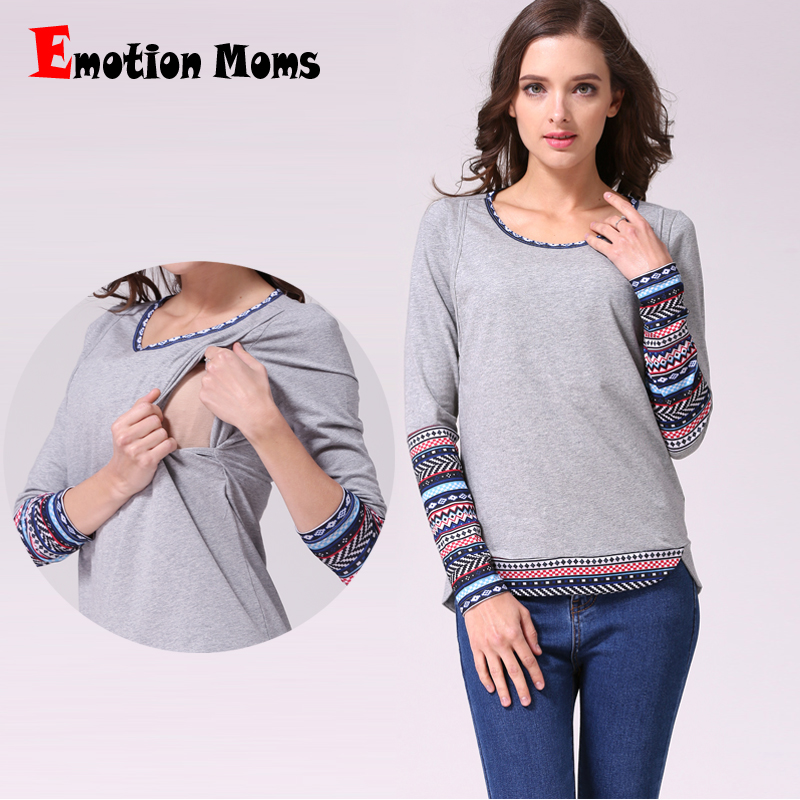 emotion moms patchwork long sleeve maternity clothes