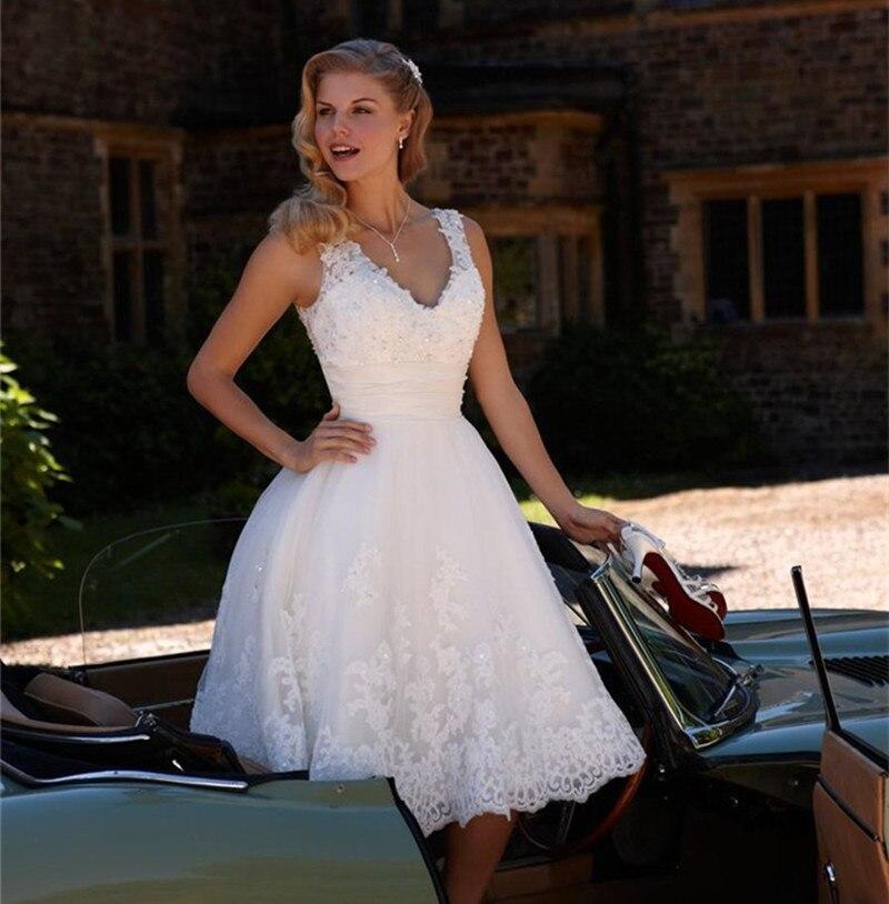 Wedding Dresses Tea Length Promotion-Shop for Promotional Wedding ...