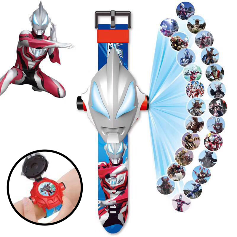 Can Projection Ultraman  Kids Watch Children Watch Toys For Children Birthday Christmas Gift