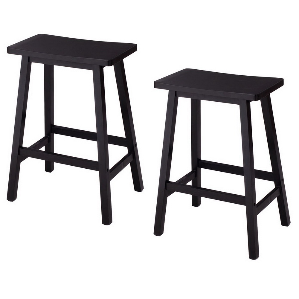 "24"" Height Bar Stools Kitchen Dining Room Saddle Seat"