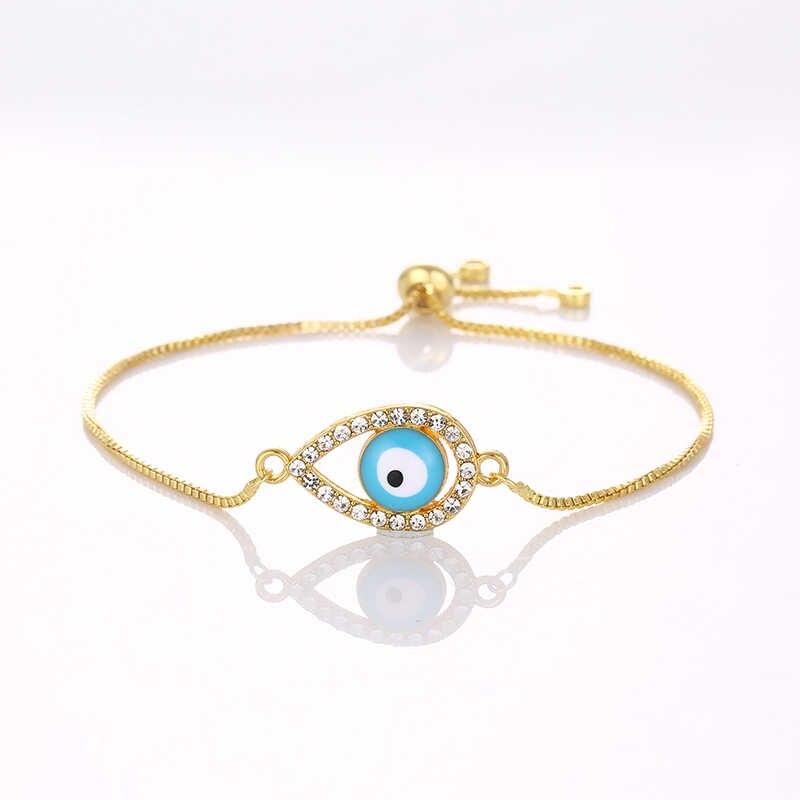 Классический Шарм в форме капель турецкий глаз сокровище синие инкрустированные Чешские камни озеро синие злые духи ожерелье с глазом Бесплатная доставка