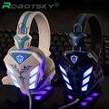 Cosonic Gaming Fone De Ouvido USB + 3.5mm Gaming Headset Headband Fone de Ouvido com Cancelamento de Ruído de Microfone LED Light para PC Gamer