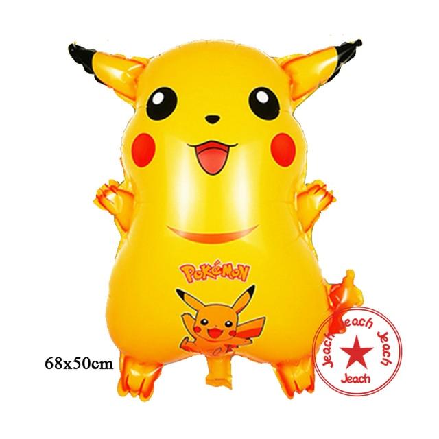 Baby Balloon Pokemon Toys Inflatable Helium Foil Children Party Decoration Supplies Cartoon Animal Shaped Birthday Balloons