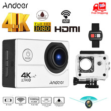 """Andoer AN200 Action Camera 4K WiFi Sports Camera 1080P 16MP Full HD 4X Zoom 2"""" LCD 170 Wide Angle Time Lapse w/Remote Control"""