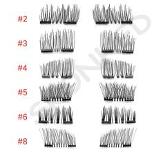 1 Set Soft 3D Silk Fiber Magnetic False Eyelashes No Glue Required Double Magnet Lashes Handmade Thick Long Extension Tools(China)