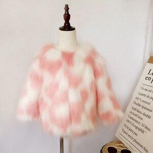 Image 3 - LILIGIRL Girls zimowa kurtka ze sztucznego futra dziecięcy ciepły płaszcz dla dziecka kolorowe znosić chłopcy wysokiej jakości kurtki futrzane topy ubrania
