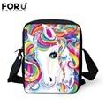 Kawaii Rainbow Horse School Bags Animation Kids Book Bag Boys Little Shoulder Bag Child Mochila Girls Schoolbag Children's Gift