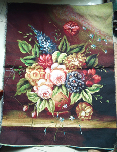 Free shipping Different sizes still life gobelin tapestries pictures for furniture,a bunch of peony