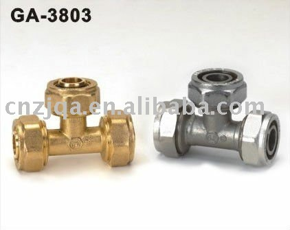 1620mm Brass pipe fittings - equal Tee