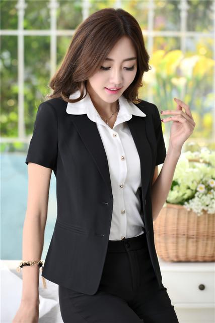 Preto Elegante Formal Mulheres de Negócios Se Adapte Às Senhoras Escritório Profissional Estilos Uniformes Pantsuits Blazer Casaco e Calças Set