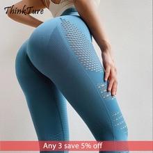 New Seamless Leggings Sport Women Fitness Yoga Pants Eyelet Knit Gym Leggings Tights Push Up High Waist Stretch Running Trouser