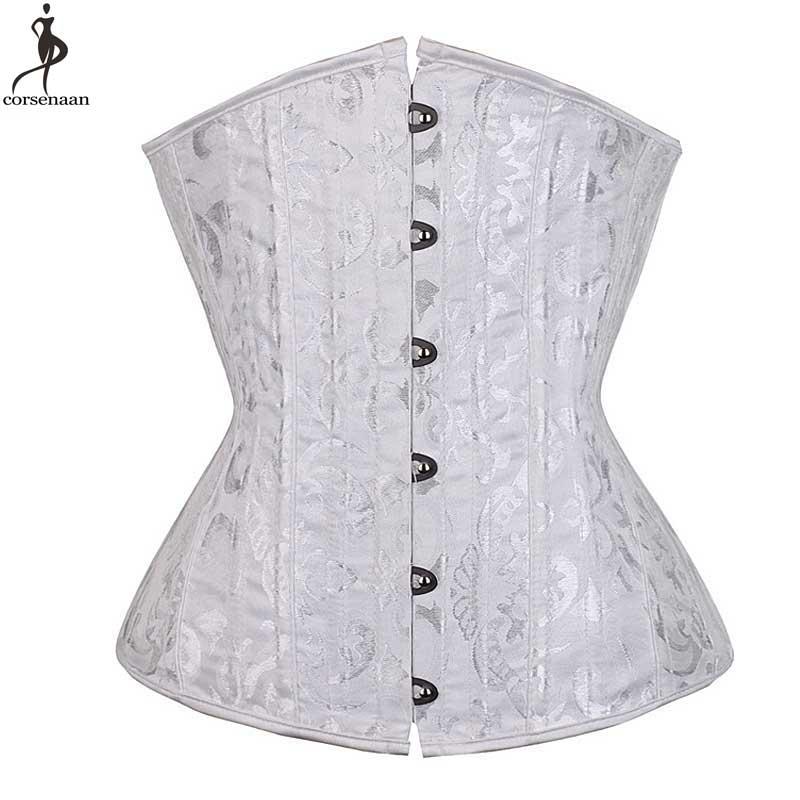 Push Up Underbust Corset Spiral Steel Boned Corsets Jacquard Floral Plus Size 6XL Outwear Bustier Waist Slim Weight Loss Gorset