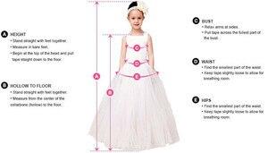 Image 4 - כתם קו פרח ילדה שמלות ללא שרוולים ללא משענת ראשית הקודש שמלת עבור Gilrs 2019 חדש Vestidos ילדים תחרות שמלת הערב