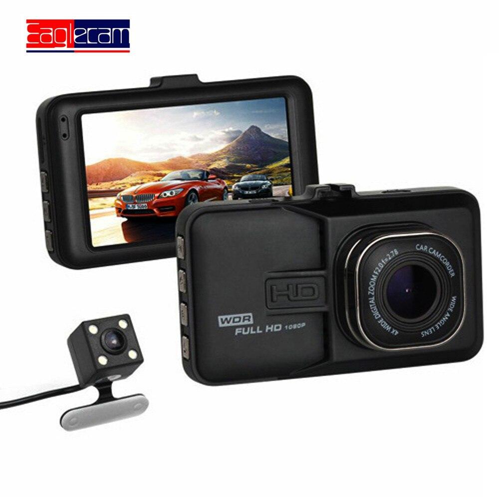 Voiture DVR voiture caméra Dash Cam Dash caméra enregistreur vidéo double caméra Eaglecam DVRS T636 1080 P Full HD 170 degrés angle g-sensor