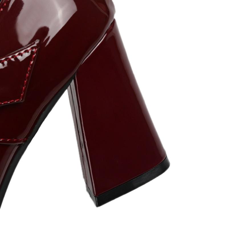 De T gray En Mujer Taille Plus 43 red purple Pompes Chaussures Lisa Mariage Soirée C636 strap Orcha Dames Femmes Balck Boucle Zapatos pink 33 La Cuir Femme Verni w8aWSv