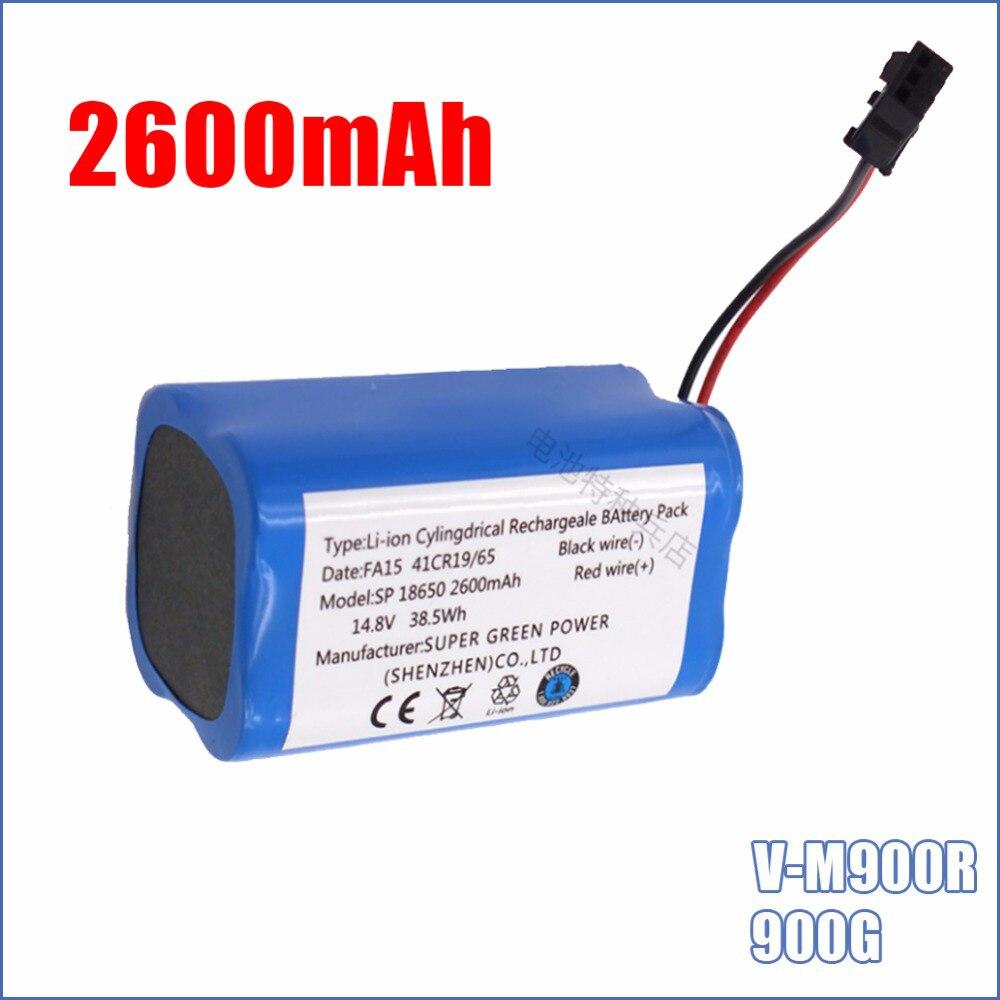 14,8 V 2600mAh Высокое качество Горячая Распродажа литий ионная аккумуляторная батарея для PUPPYOO V M900R 900G Робот Пылесос