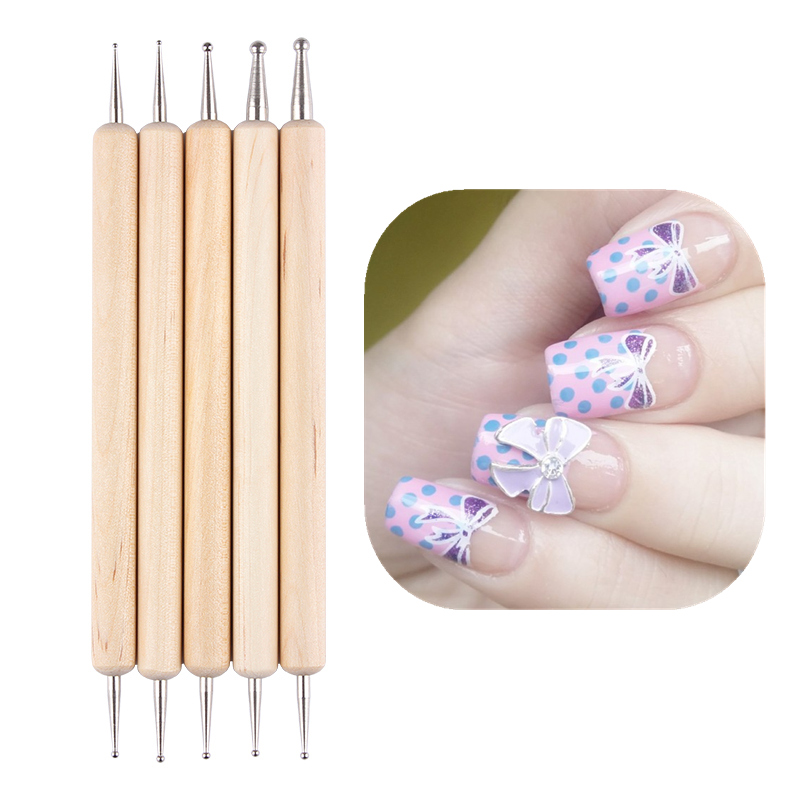 100pcs/packs 11.3cm Orange Wood Stick Cuticle Pusher Remover Nail ...