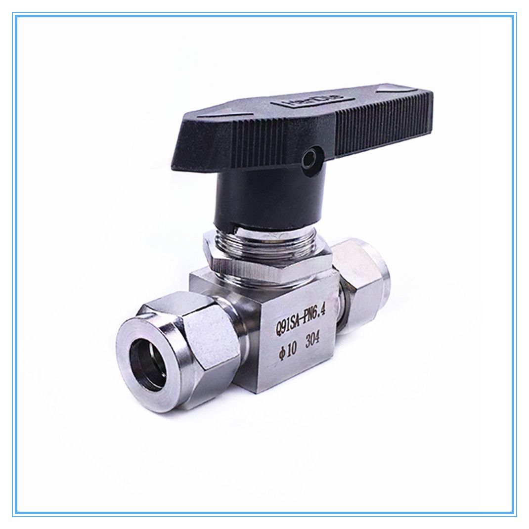 Stainless Steel SS 304 Hydraulic Pipe Ball Valve Female For Tube-line And Pipeline Tube OD 3MM 4MM 6MM 8MM 10MM 12MM