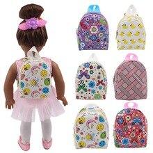 Accesorios de la muñeca 6 estilos lindo morral 43 cm bebé muñeca y 18  pulgadas muñeca b55654b613b