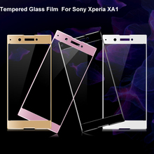 3D Curved Edge Front Full Tempered Glass For Sony Xperia XA1 E5823 Full Screen Protector For Sony Xperia XA1 Ultra High Quality