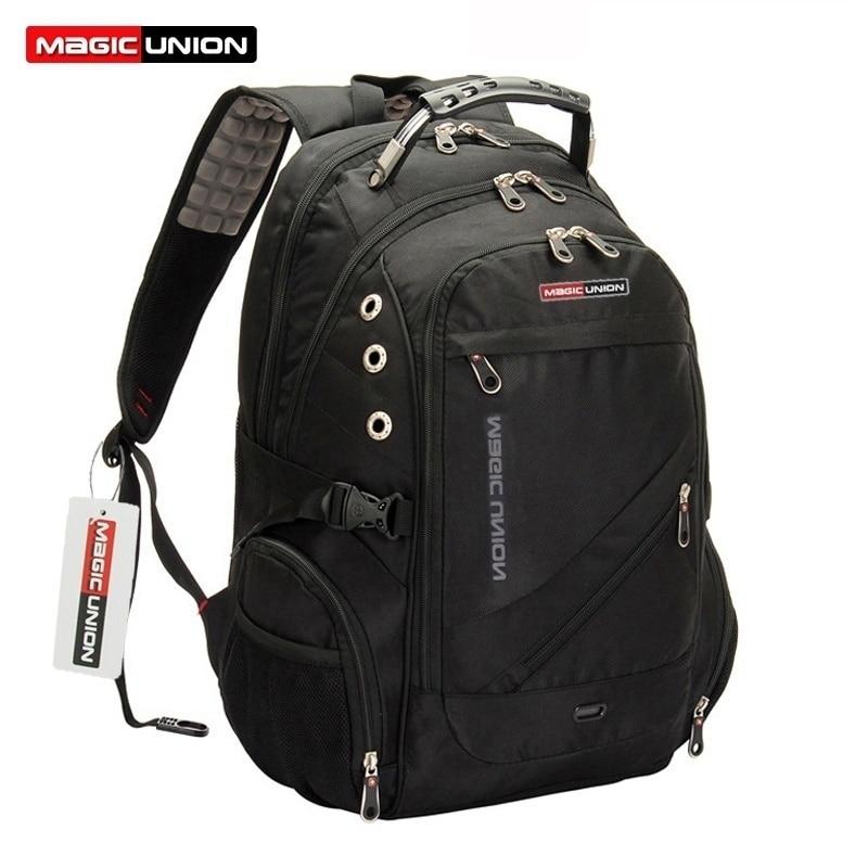 MAGIC UNION Men's Travel Bag Man Big Capacity 17 inch USB Charging Oxford Laptop Backpack School Backpack Brand Bag