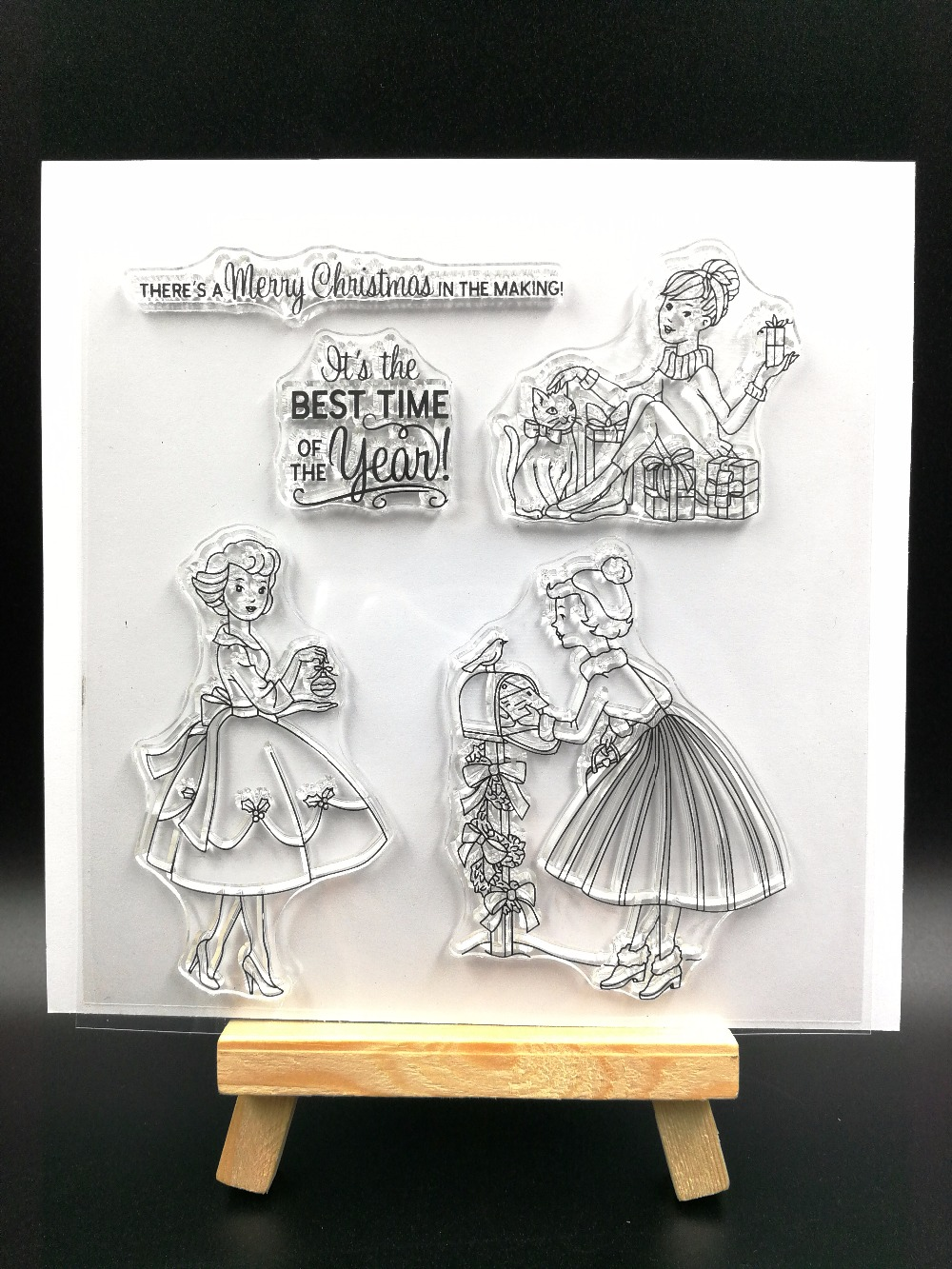 New Year greeting Transparent Clear Silicone Stamp/Seal for DIY scrapbooking/photo album Decorative clear stamp sheets H090