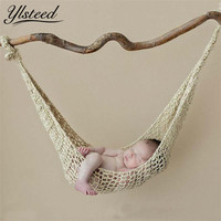 Crochet Hammock Newborn Baby Photography Props Crochet Baby Hanging Cocoon Photo Shoot Knitted Hanging Bed Fotografia