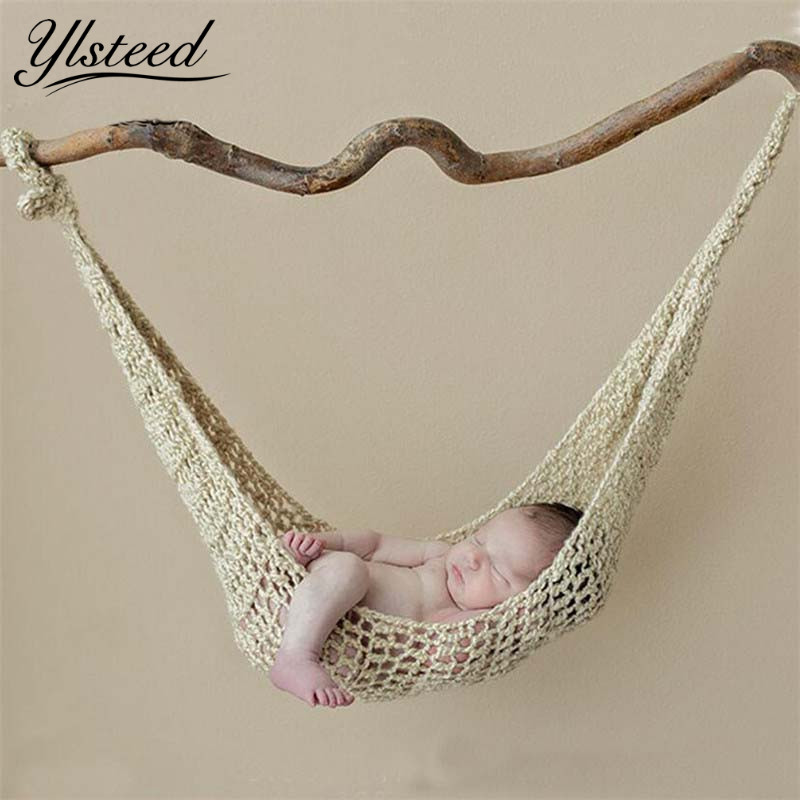 Crochet Hammock Newborn Baby Photography Props Crochet Baby Hanging Cocoon Photo Shoot Knitted Hanging Bed Fotografia Accessorie meetcute newborn baby photography props floral crochet blankets cute bear hat knitted bear sets baby fotografia photo kits