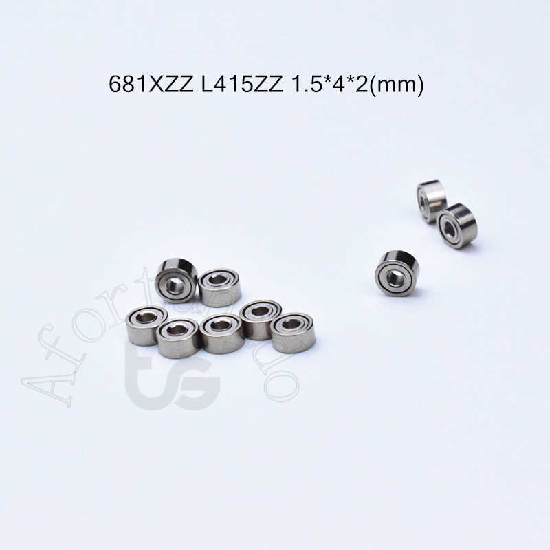 681ZZ L415ZZ  1.5*4*2(mm) 10pieces Bearing Free Shipping ABEC-5 Bearings Metal Sealed Mini Bearing 681 Chrome Steel Bearing