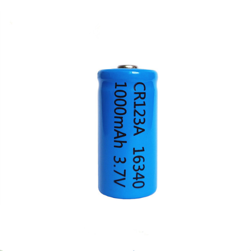 1pcs/lot <font><b>3.7V</b></font> <font><b>1000mAh</b></font> Lithium Li-ion 16340 <font><b>Battery</b></font> CR123A Rechargeable <font><b>Batteries</b></font> <font><b>3.7V</b></font> CR123 for Laser Pen LED Flashlight Cell image