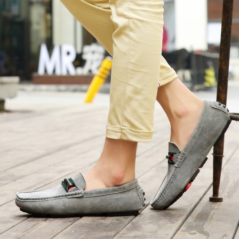 Summer social bean shoes men 2019 spring models wild personality trend mens canvas lazy a pedal