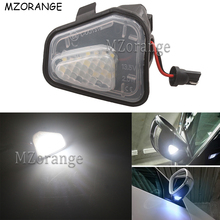 MZORANGE 2PCS LED Side Mirror Puddle Lights For Volkswagen CC 12-14 EOS Passat B7 Car-styling 18 White Lamp