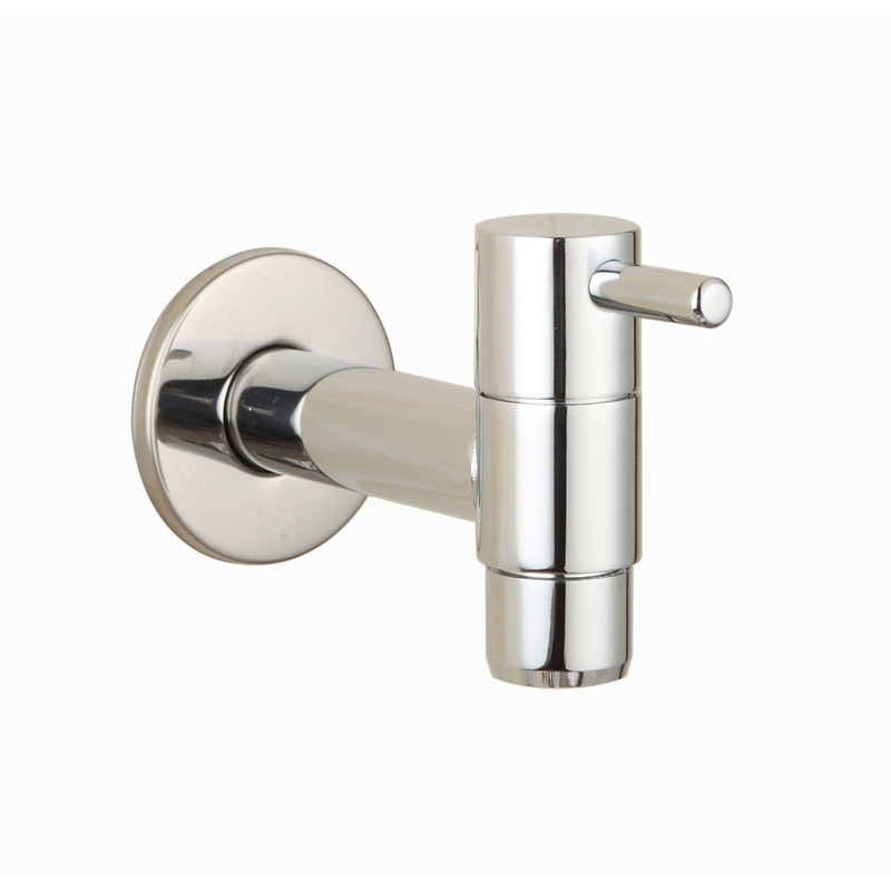 Brass Chrome Laundry Bathroom Wetroom Faucet Wall Mount Cold Water ...