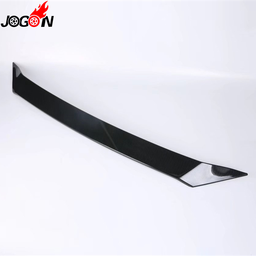ABS Molding Trim Carbon Fiber Look For Mazda CX-3 CX3 2016 2017 2018 Front Engine Hood Upper Grille Cover Sticker