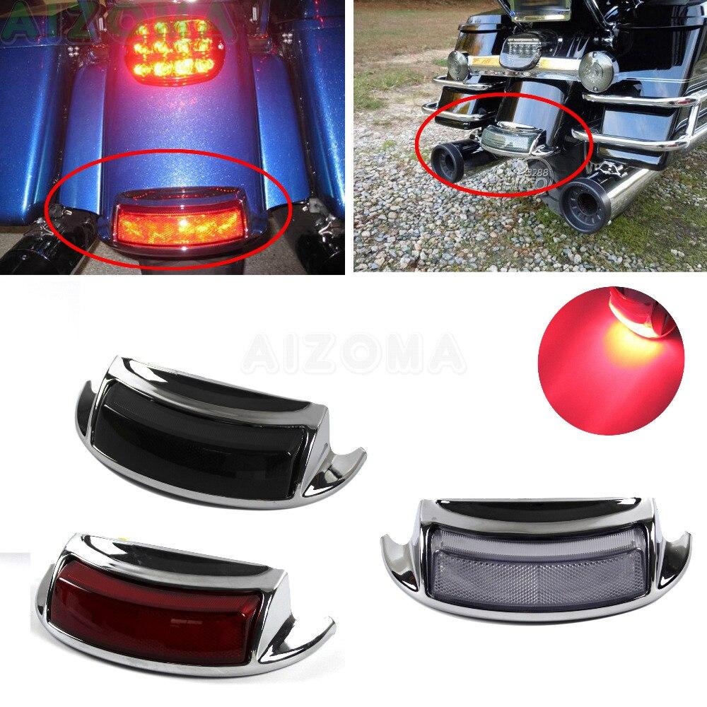 Chrome LED Tail Lamp Guard Cover For Harley Touring FLHTC FLHTCU FLHTK FLTRU