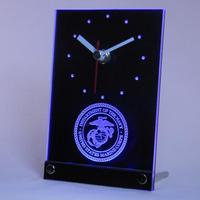 Tnc0210 ABD Deniz Piyadesi Askeri Masa Danışma 3D LED Saat