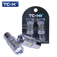 TC X 2pcs Car Styling 1156 With Lens 50W Input 12W Output 12V BA15S Car Led