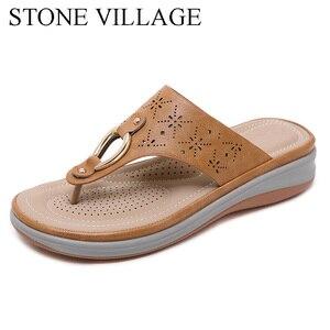 Image 3 - הקיץ חיצוני חוף כפכפים נשים כפכפים החלקה נוח טריזי עקבים פלטפורמת נעלי נעל נשית באיכות גבוהה