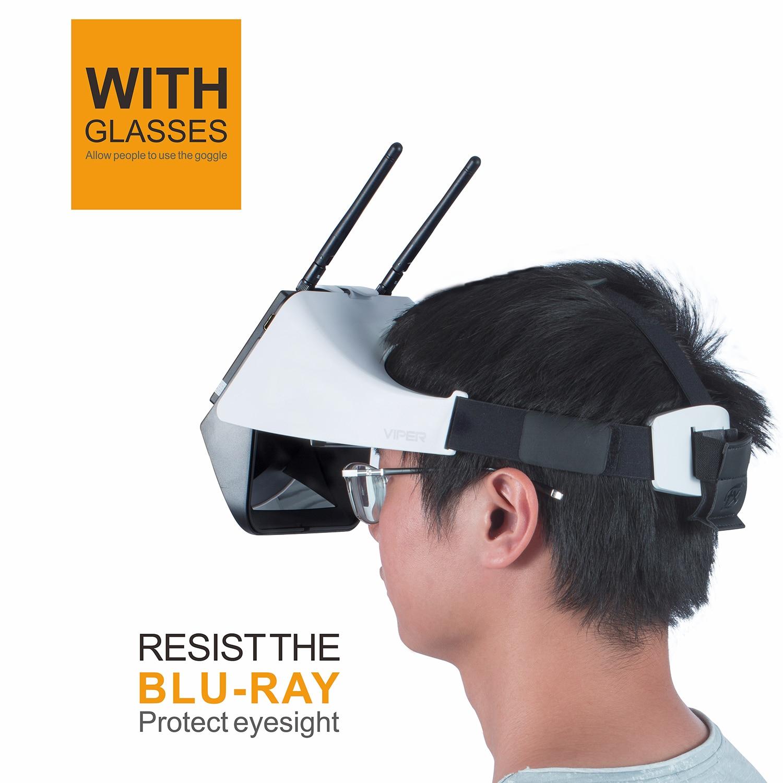 FXT VIPER Versão 2.0 5.8G Diversidade HD FPV Óculos de Vídeo com DVR Embutido Refrator para RC Drone Quadcopter FPV accessoriess