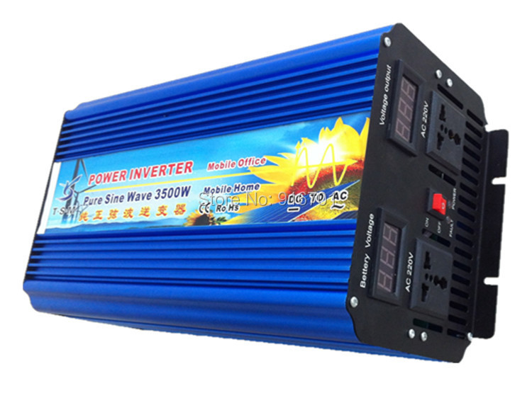 цена на 3500W 12/24/48VDC to 100/110/120/220/230/240VAC Off Grid Pure Sine wave Solar Inverter,50Hz Or 60Hz converter