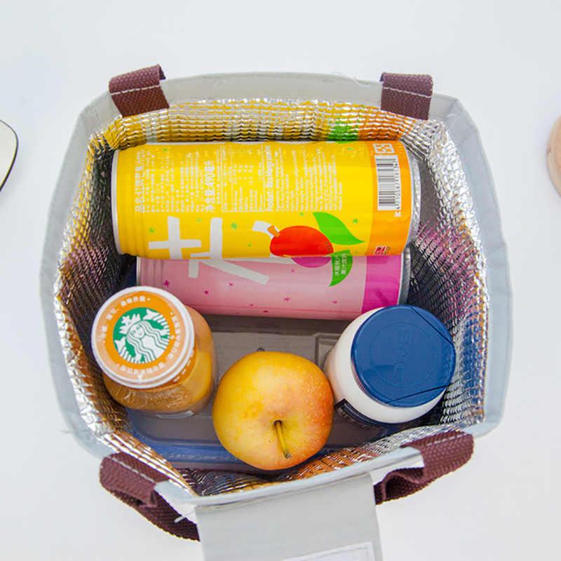 תיבת הצהריים תיק גדול קיבולת הצהריים שקיות עבור בנות נשים Cartoon ציפורים אוקספורד מזון Cooler Tote פיקניק Funtional תרמית תיק ארוחת צהריים