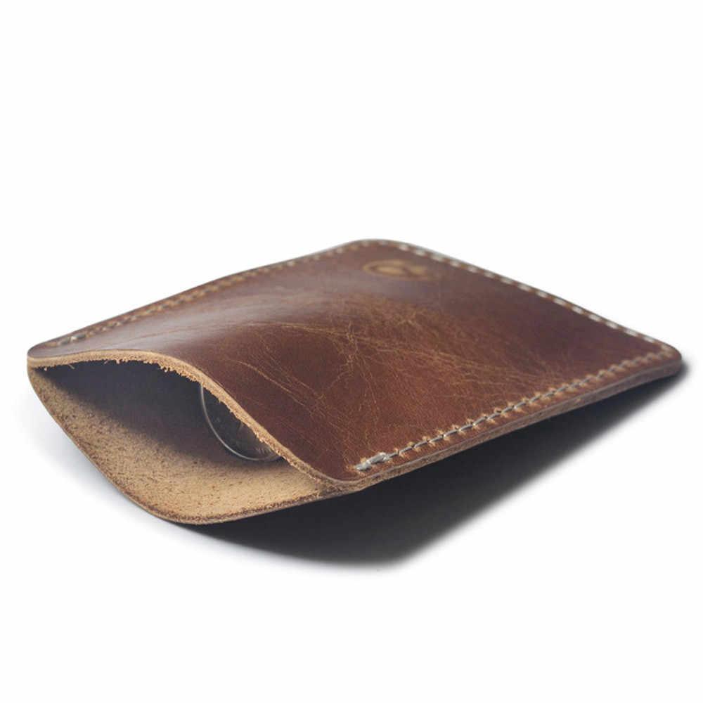 Aelicy2019, tarjetero de lujo de negocios para hombre, tarjetero de cuero para hombre, tarjetero de cuero delgado para tarjeta bancaria de negocios, cartera para mujer