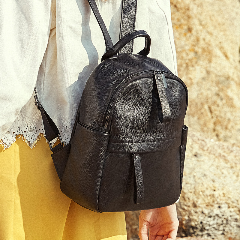 Маленький женский черный рюкзак для путешествий милые дизайнерские рюкзаки женские высококачественные школьные сумки для девочек подростков водонепроницаемый рюкзак